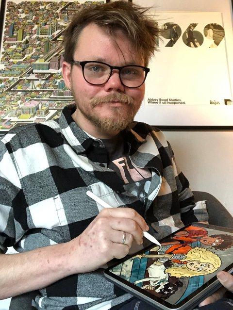 STORT PROSJEKT: Jonas Alexander Brårmo Larsen (29) er i gang med et stort prosjekt når han nå lager tegneserie av Jørn Lier Horst bokserie CLUE.