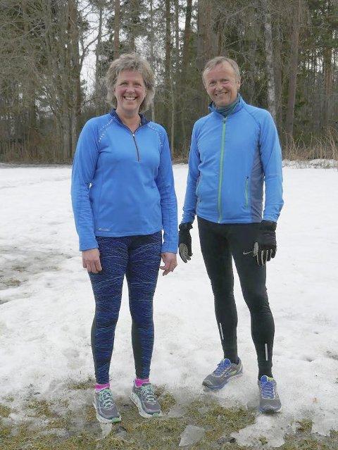 NULLØP: Bente og Rolf Arne Strand er fornøyde deltakere.