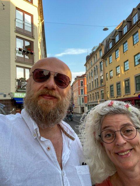 KJÆRESTEPAR: For snart 25 år siden giftet de seg i smug og stakk til København. Bård og Liv er fortsatt bestevenner og kjærester.