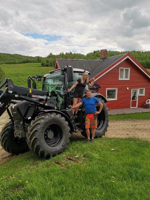 Hilde Vårhus og Bjørn Magnar Vik satser på gårdsdrift i Hessdalen.