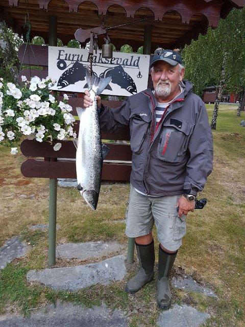 Jan Erik Kleven tok den 26. juni en laks på 6,2 kg. Den ble tatt på sluk i Sone 1.