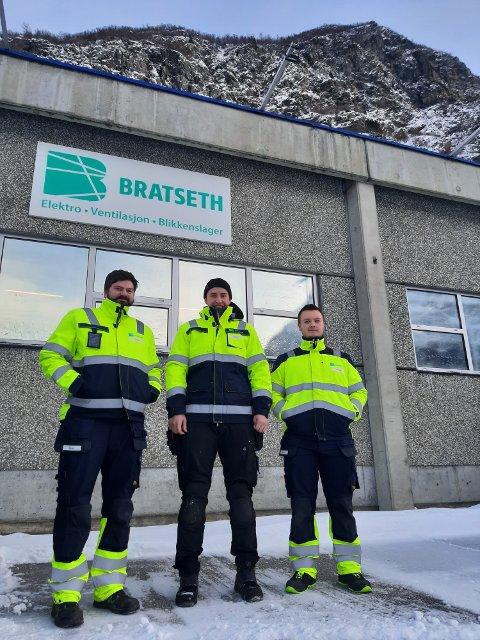 Viktig: Bratseth AS støtter også LHL-spleisen til ambulansetjenesten. Fra venstre Mattias Sletnes, Lars Stokke Wirrum og Sigve Oldervik Dalsbø.
