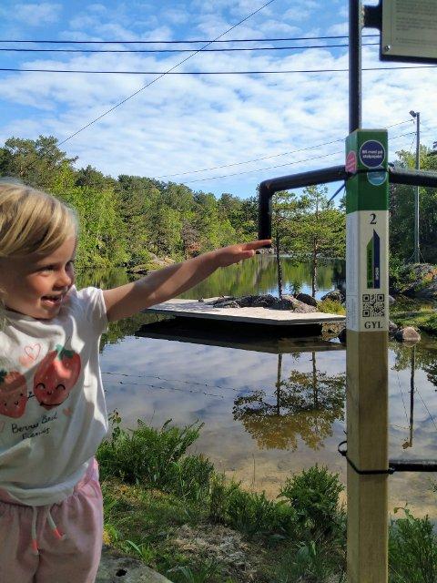 URHEIA: Johanna Sandnes er en av dem som har vært med ut i skogen, i byen og på Sandnes for å jakte stolper i sommer.