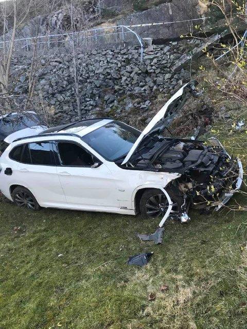 Slik så det ut da bilen fortsatt sto i hagen til Yngvar Aanonsen.