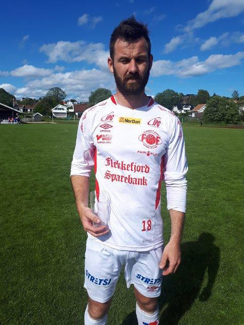BESTE SPILLER: Dan Christer Virak ble kåret til Flekkefjords beste spiller mot Expresss.