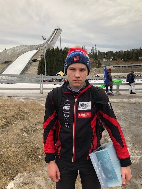 Marius Nygård Fidjeland fra Sirdal skilag vant dag 1 i Kvalfoss sprinten klasse G14
