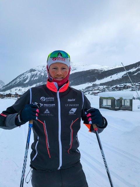 TRENER HARDT: Joar A. Thele har vært i Livigno i Italia de seneste ukene, og forbereder seg til enda et løp, denne gang fra Toblach til Cortina i Italia. Foto: PRIVAT