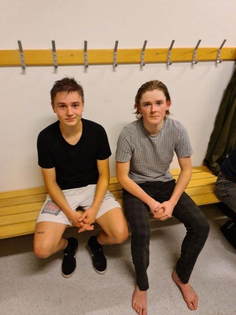 KILs debutant Vegard Andre Omland og målscorer Sander Risnes