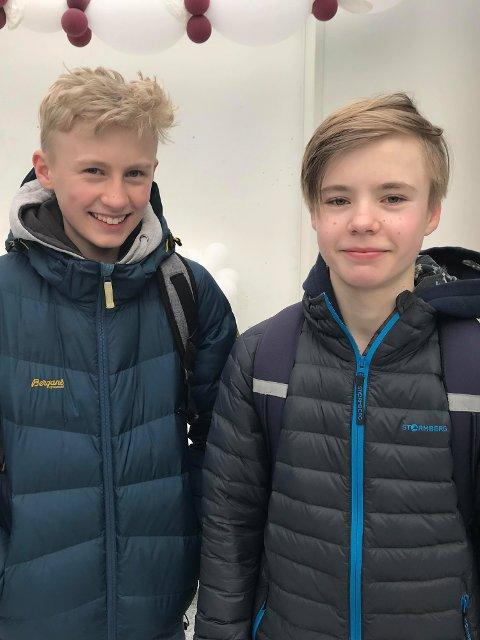 Tobias Romarheim og Lukas Hopsdal.