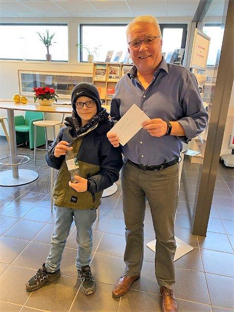 «DREAM TEAM»: Emil Ekornrød Sætre og ordførar Per Lerøy samarbeider om å samle inn inntekter for barnekreftforeininga.