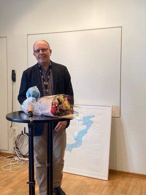 Eivind Molde takkar for prisen.