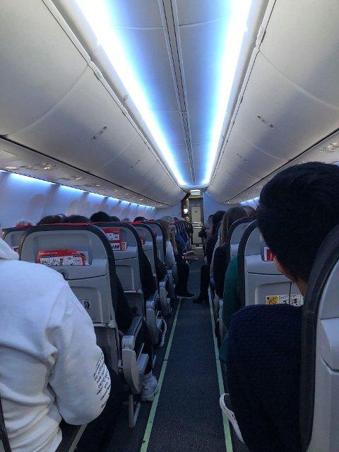 Norwegian-flyet kom seg ikke opp i lufta i Bodø fredag formiddag.