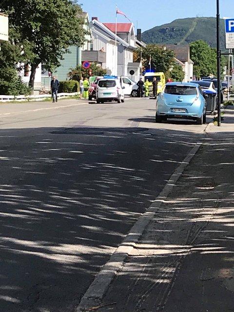 Ulykke i krysset Biskop Kroghs og Kongens gate.