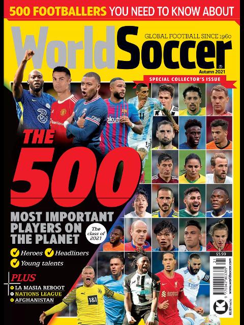 Slik ser forsiden til fotballmagasinet World Soccer ut i utgaven hvor de kårer verdens 500 viktigste fotballspillere.