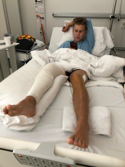 Arbeidsulykke: Adrian Bjørnbakk fra Fauske opplevde en skrekkopplevelse i august da han fikk et strømskap på 600 kilo over seg.