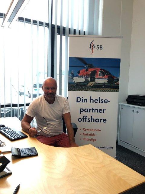 Daglig leder i Skagerak Bemanning AS, Torgeir Kjøll, på bildet. Lars Ådne Vadla og Bredo Klepp var på ferie da bildet ble tatt.