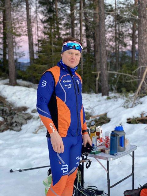 SKILØPER: Sven Erik Winther Naug har brukt pandemien godt. 30-åringen er i knallform og trener omtrent hver dag. Det gjorde han ikke før koronaviruset inntraff.