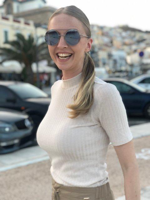 HJEMME IGJEN: Eline Staalesen har flyttet hjem etter flere år i Hellas.