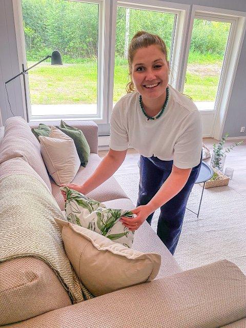 STYLING: Caroline B. Lad på sin første betalte jobb som interiørstylist – for Nordbohus Modum i Prestfoss.