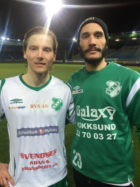 SENTRALE: Kim Vesterheim Berntzen og Hichem Bekkaoui scoret to mål hver når Vestfossen slo Åssiden 6-1.