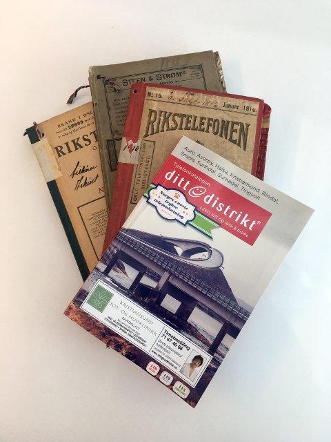 SISTE UTGAVE: Ditt distrikt-katalogen i papirform kommer for siste gang i år. Telefonkatalogens historie startet på 1880-tallet.