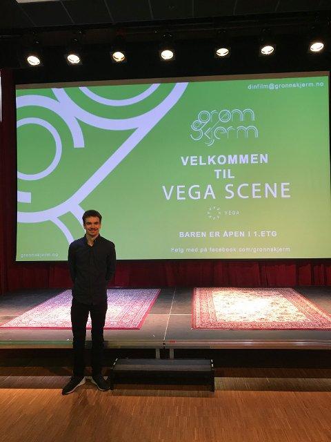 Joakim Skutle Oppi viste nylig sin første film på Vega Scene i Oslo.