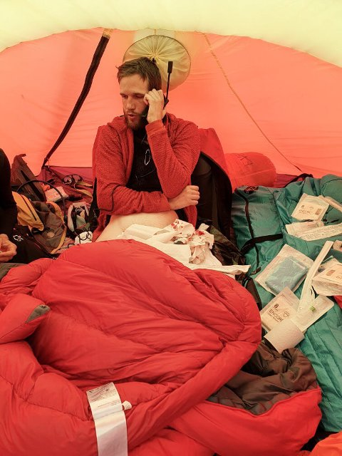 MÅTTE EVAKUERA: Tord Are Meisterplass vart sjuk og måtte evakuera og få sjukehusbehandling.
