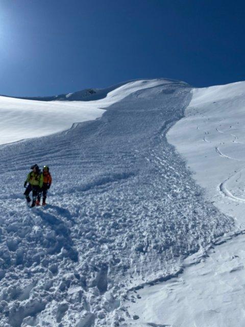 STORT: Raset var mellom 600 og 700 meter langt og 400 meter breitt.
