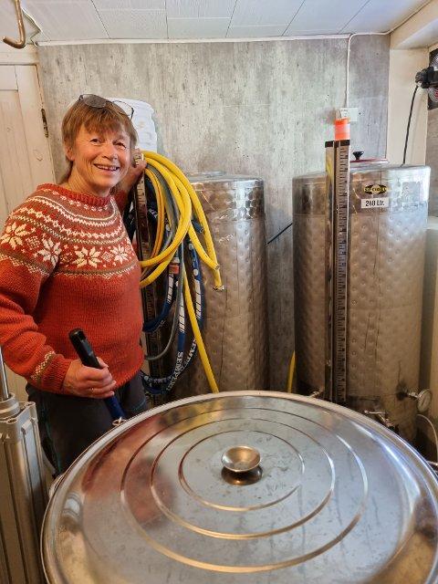 I KJELLAREN: Bryggeriet er plassert i kjellaren.