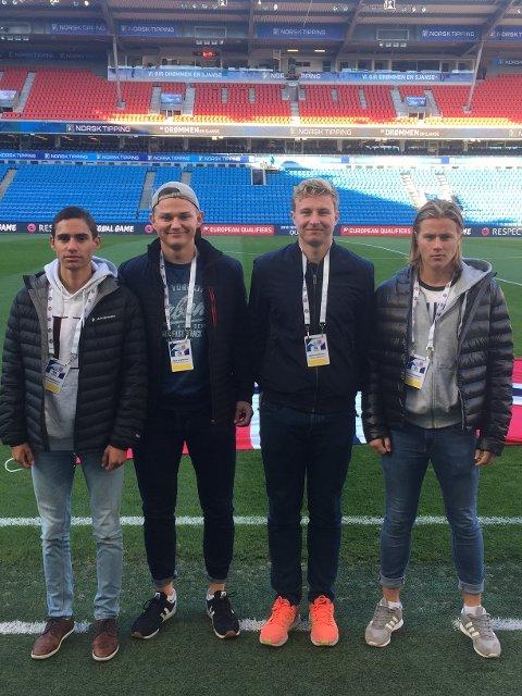 Kråkerøy: Fra Kråkerøy deltok fra venstre: Johan Syvertsen, Jesper Jansson, Sondre Odden  og Edvard Andersen.