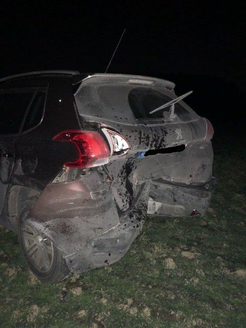 Slik så en av ulykkesbilene ut.