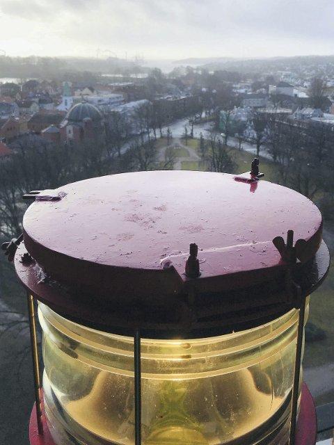 Flott Utsikt: 172 trappetrinn opp i kirketårnet, åpenbarer det seg en flott utsikt mot havna og innseilingen til Fredrikstad.