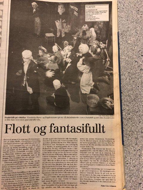 FBs anmeldelse fra 1996: Flott og fantasifullt, skrev kulturjournalist Anne Lise Johnsen etter å ha sett «Et førjulsmareritt»