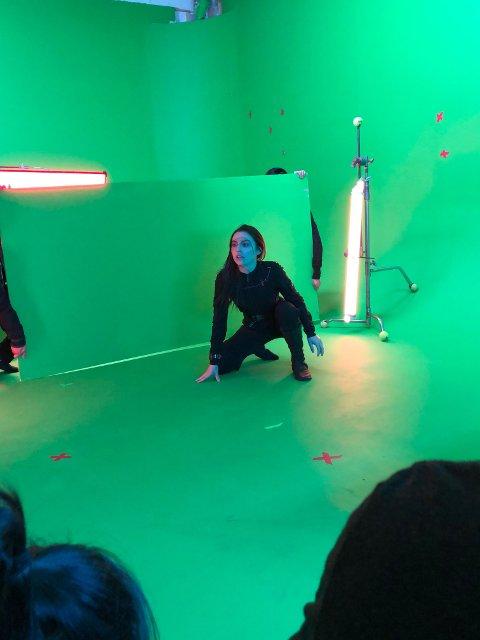 Uten kulisser: Kortfilmen innen science fiction ble spilt inn  uten bakgrunn. Alt skjedde foran den grønne skjermen.