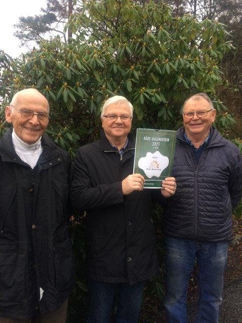 Forventningsfulle. Råde historielag har store forventninger til salget av Råde-kalenderen. Her ser vi fra venstre John Grimstad, Egil Hissingby og Vidar Sørlie.