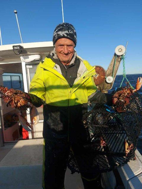 Mandag leverte Finn Roar Johansen (63) 234 hummer.