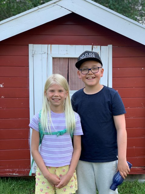 Spente: Marie Høidahl og Isak Ødegard er nye som Ida og Emil.