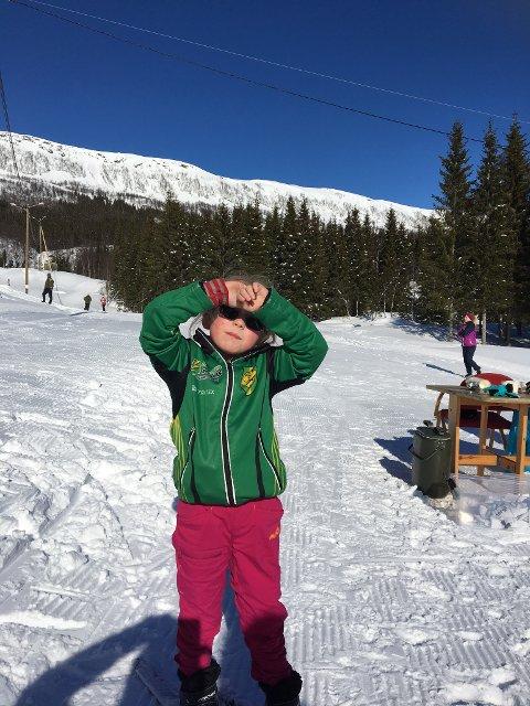 Ingrid Pettersen var fornøyd etter målgang.