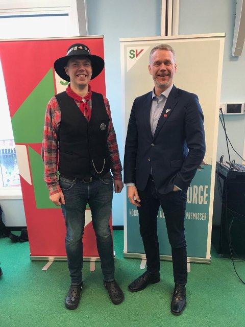Vegar Johan Lind-Jæger med ny leder i Nordland SV Christian Torseth.
