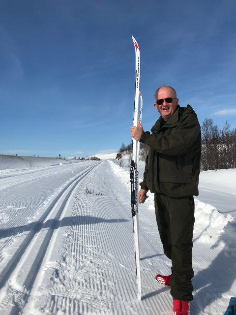 Mads Juhl fra Danmark er fersking på ski. Lørdag deltar han i Border Crossing Challenge.