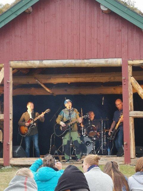 ROCKET: Christina Remman Band spilte konsert for rundt 400 personer på festivalen God Nok.