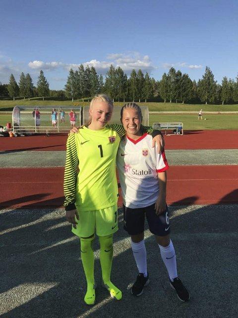 VANT: Hanne Larsen og Lotte Fikseth Fossem, eks Mjølner og Håkvik/Mjølner var i startelleveren da Medkila vant mot Fløya lørdag. Ida Fikseth Fossem og Sarah Martinussen spilte også fra start.