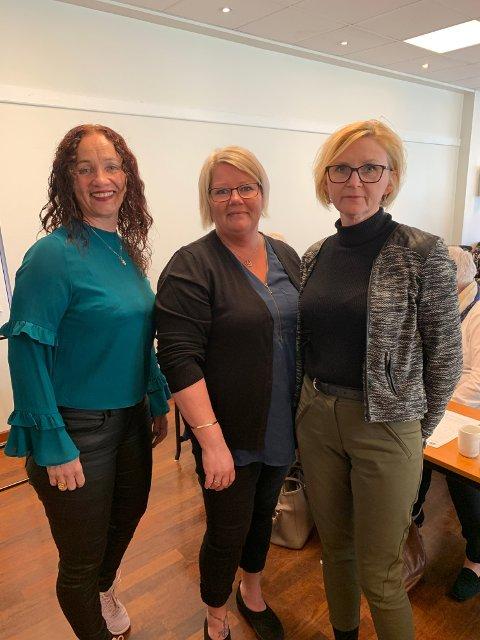 Siv Irene Iversen, Fagforbundet UNN Harstad Monica Kiltorp, Fagforbundet Narvik og Marianne Johnsen, Fagforbundet UNN Tromsø .