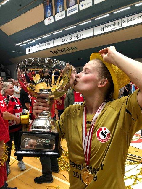 TILBAKE SOM TOPPSCORER: Håndballstjernen Marit Røsberg Jacobsen, Team Esbjerg.