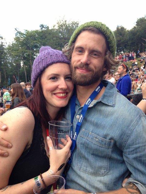 Lena og Håvard under Parkenfestivalen - før sykdommen rammet Håvard knallhardt sommeren 2019.