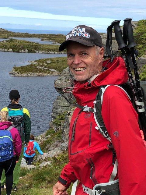 PÅ FJELLTUR: Steinar Andorsen har tilbrakt deler av sommeren i Lofoten før tur til Narvik