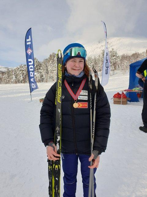 VANT BEGGE DAGER: Martine Skog, Bjerkvik If skiskyting