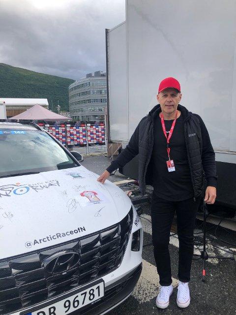 LOVER FOLKEFEST: Christian Eide-Hermansen lover folkefest når Arctic Race for første gang kommer til Gratangen på søndag.