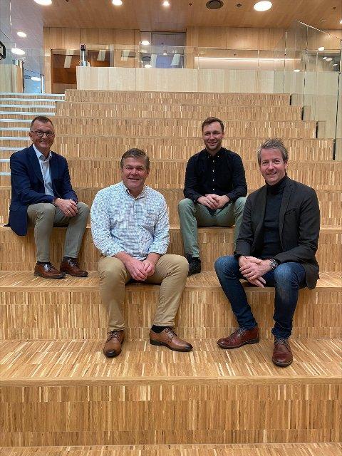SAMARBEID: Roger Bergersen (fv) og Erik Plener samarbeider med Bodø 2024, ved programsjef Henrik Sand Dagfinrud og direktør Andre Wallan Larsen.