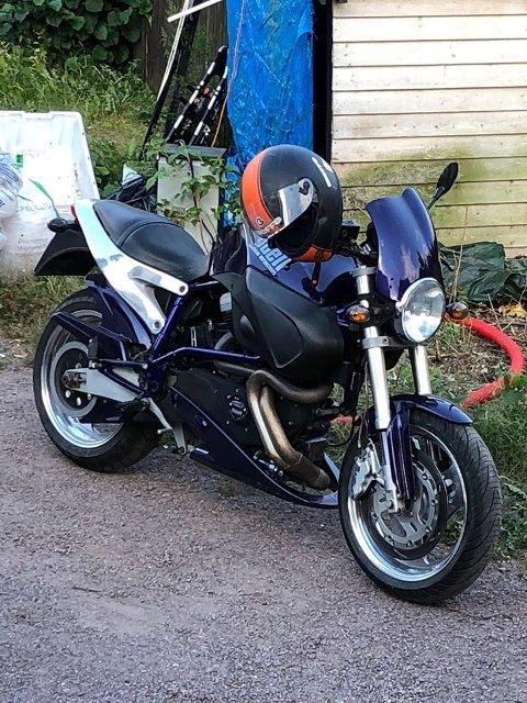 SØKK VEKK: Har du sett denne motorsykkelen? I så fall bør du varsle politiet.